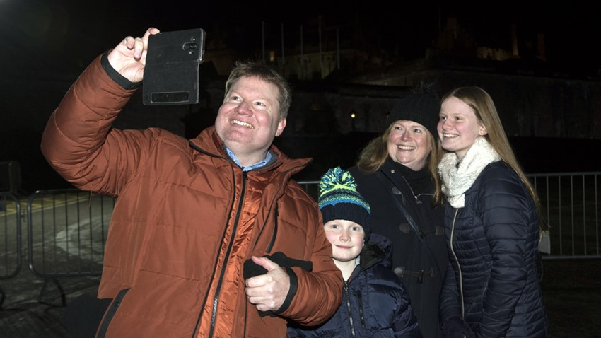 Image of Stirling's Hogmanay Family Pose