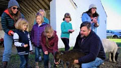 Farm tours at Gartur Stitch during last year's festival where you can, 'Meet the Goats'.