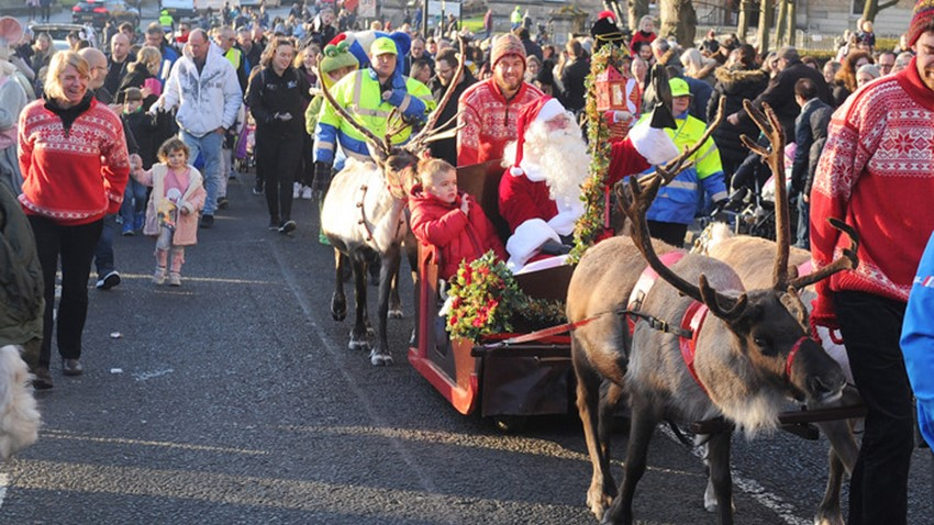 Image of Santa's Sleigh Procession