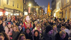 Christmas Lights Switch on Event Crowds