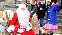 Provost with Santa and Helpers