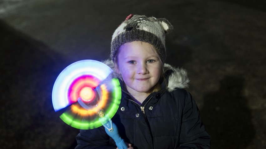 Image of Child with Light up Wand, Stirling Hogmanay