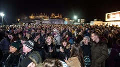 Stirling Hogmanay Crowds