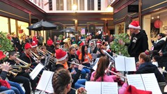 Brass Band, Christmas Light Switch on Event