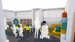 Children's Library 3D Interior View 2