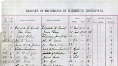 Register on interments