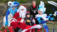 Provost, Child, Santa & Helpers at Christmas Light Switch on Event