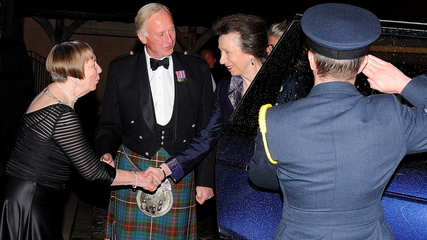 Image of Provost meets Princess Anne at Guildry's 900th anniversary celebrations Stirling Castle
