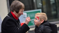 Christmas Lights Event, Provost Facepainting boy