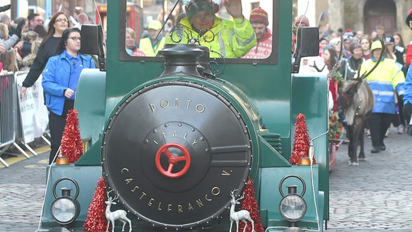 Image of Santa Train, Christmas Tree Light Switch on Event