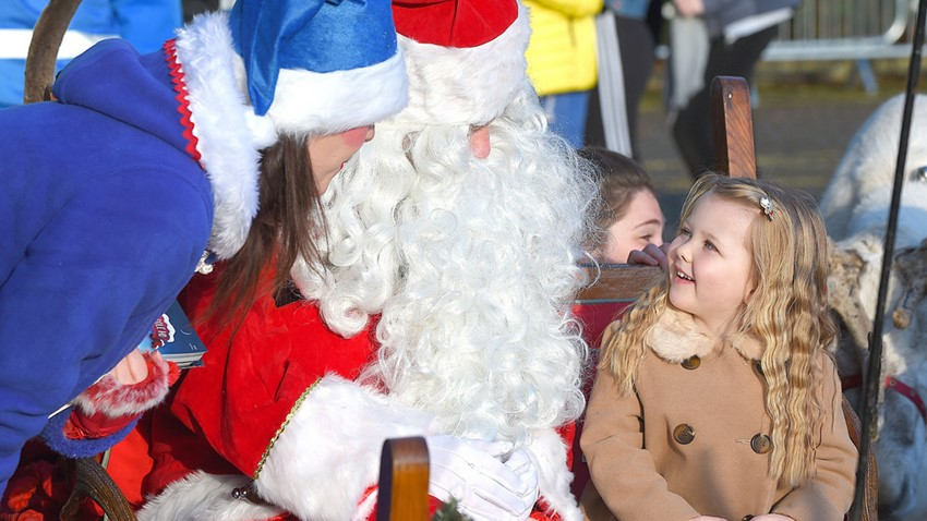 Image of Santa and Girl