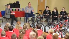Chris Hoy Addressing School Children