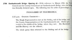 Stirling Town Council Minutes 15 Oct 1935