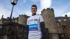 Callum Hawkins at the launch of the Stirling Scottish Marathon